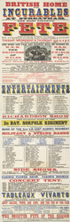 Poster for a fete to raise funds for the British Home for Incurables